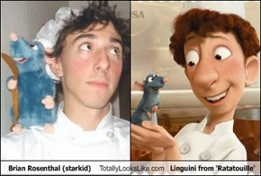Brian Rosenthal (starkid) Totally Looks Like Linguini from 'Ratatouille'