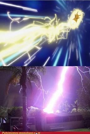 Pikachu used Thunderbolt ...... IRL