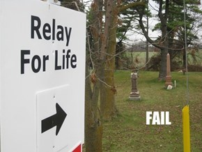 Relay For Life FAIL