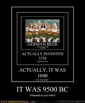 IT WAS 9500 BC