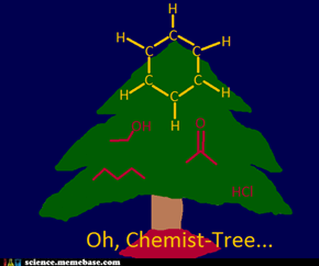 Oh Chemist-tree, oh chemist-tree - how lovely are thy branched chains...
