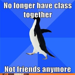 Socially Awkward Penguin: I Have to Do This All Over Again!?