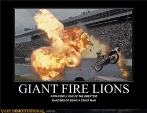 GIANT FIRE LIONS
