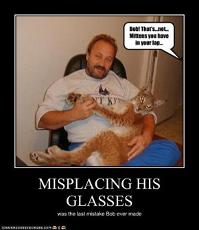 MISPLACING HIS GLASSES