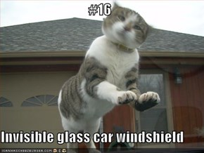 #16  Invisible glass car windshield