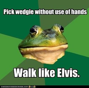 Foul Bachelor Frog: No Pelvic Thrust Required