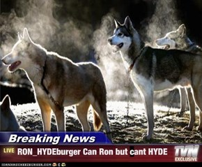 Breaking News - RON_HYDEburger Can Ron but cant HYDE