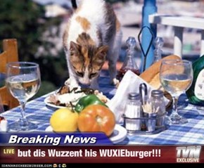Breaking News - but dis Wuzzent his WUXIEburger!!!