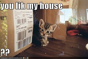 you lik my house  ??