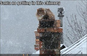 Santa no getting in this chimney