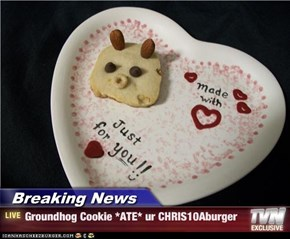 Breaking News - Groundhog Cookie *ATE* ur CHRIS10Aburger
