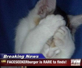 Breaking News - FACESEEKERburger is RARE ta finds!