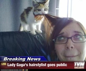 Breaking News - Lady Gaga's hairstylist goes public