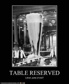 TABLE RESERVED