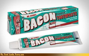 Funny Food Photos - Bacon Toothpaste