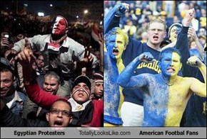 Egyptian Protesters Totally Looks Like American Footbal Fans