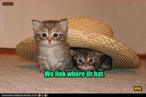 We liek where Ur hat.