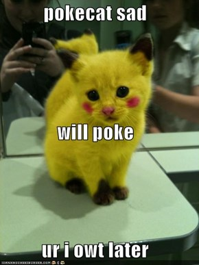 pokecat sad will poke ur i owt later