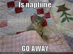 Is naptime  GO AWAY