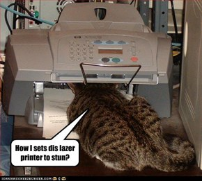 How I sets dis lazer printer to stun?