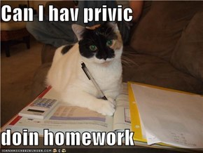 Can I hav privic  doin homework