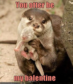 You otter be  my balentine