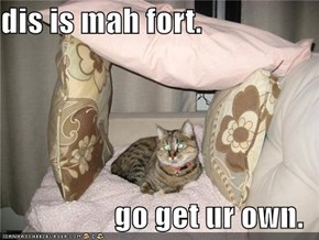 dis is mah fort.  go get ur own.