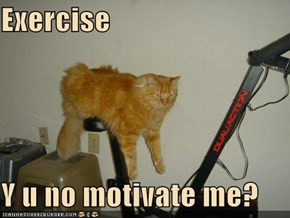 Exercise  Y u no motivate me?