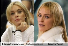 Defendant Lindsay Lohan Totally Looks Like Catherine Tramell