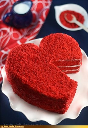 Funny Food Photos - Heart Cake