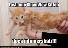 Last time ShamWow Kitteh