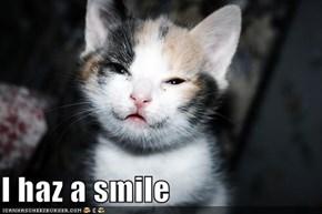 I haz a smile