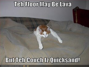 Teh Floor May Be Lava  But Teh Couch Iz Quicksand!