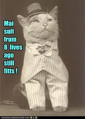 Mai suit frum 8  lives ago still fitts !