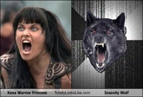 Xena Warrior Princess Totally Looks Like Insanity Wolf