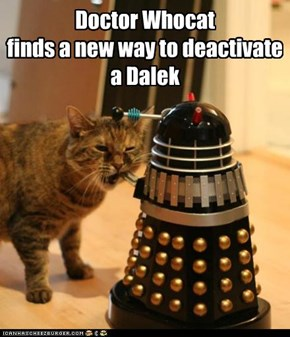 Doctor Whocat finds a new way to deactivate a Dalek