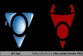 AOL logo Totally Looks Like Irken symbol (invader ZIM)