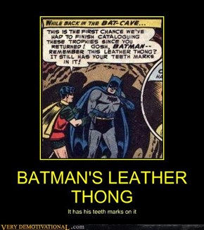 BATMAN'S LEATHER THONG