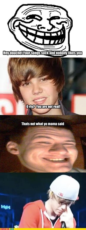 Bieber gets trolled.