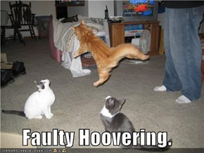 Faulty Hoovering.