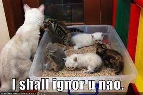 I shall ignor u nao.