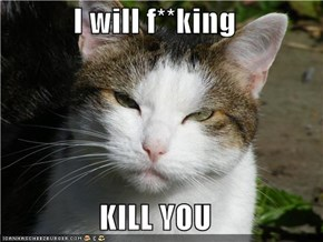I will f**king  KILL YOU