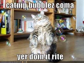 catnip bubblez coma  yer doin it rite