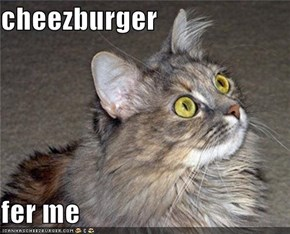 cheezburger  fer me