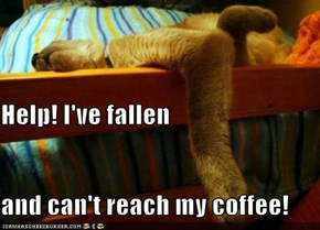Help! I've fallen and can't reach my coffee!