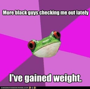 Foul Bachelorette Frog: Litmus Test for Size of Badunkadunk