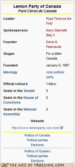 Canadian Trolls