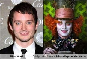 Elijah Wood Totally Looks Like Johnny Depp as Mad Hatter