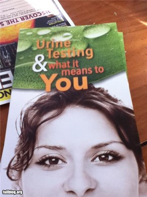 Urine Testing: It makes me smile.