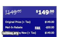 Price reduction fail